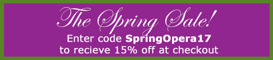 Save 15% Through 5/31/2017 with code Spring17